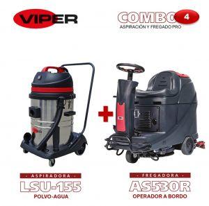 Combo Viper N#4 Aspiración y Fregado Pro: Fregadora AS530 R + Aspiradora LSU155